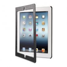 Кожен калъф за таблет Apple iPad 2, iPad 3, iPad 4 Cellualar Line Panorama - черен