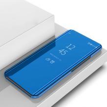 Луксозен калъф Clear View Cover с твърд гръб за Xiaomi Redmi Note 10 5G - син