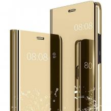 Луксозен калъф Clear View Cover с твърд гръб за Samsung Galaxy A32 4G - златист