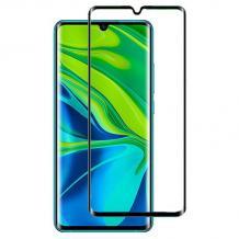 5D full cover Tempered glass Full Glue screen protector Xiaomi Mi Note 10  / Извит стъклен скрийн протектор с лепило от вътрешната страна за Xiaomi Mi Note 10 - черен