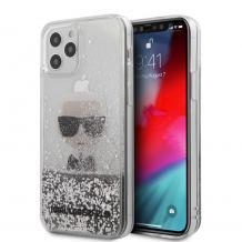 "Оригинален гръб 3D Water Case Karl Lagerfeld за Apple iPhone 12 Pro Max 6.7"" - сребрист брокат"