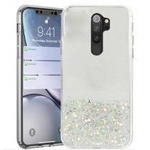 Силиконов калъф / гръб / TPU Brillant Clear Case за Xiaomi Redmi Note 8 Pro - сребристо / брокат