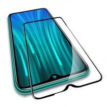 9D full cover Tempered glass Full Glue screen protector Motorola Moto E6s / Извит стъклен скрийн протектор с лепило от вътрешната страна за Motorola Moto E6s - черен
