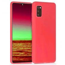 Силиконов калъф / гръб / TPU за Samsung Galaxy A71 - светло червен / мат