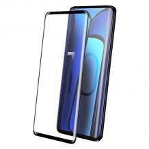 9D full cover Tempered glass Full Glue screen protector Samsung Galaxy S10 Lite / A91 / Извит стъклен скрийн протектор с лепило от вътрешната страна за Samsung Galaxy S10 Lite / A91 - черен