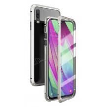 Магнитен калъф Bumper Case 360° FULL за Huawei P30 Lite - прозрачен / сребриста рамка