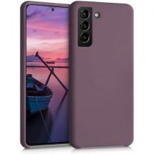 Силиконов калъф / гръб / TPU за Samsung Galaxy S21 - тъмно лилав