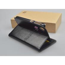 Кожен калъф Flip тефтер Flexi със стойка за Lenovo A5000 - черен