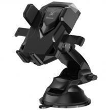 Универсална стойка за кола Baseus Robot Car Bracket за Samsung, Apple, Huawei, Lenovo, LG, HTC, Sony, Nokia, ZTE - черна / въртяща се на 360 градуса