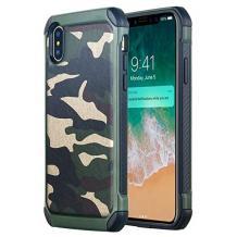 Силиконов калъф / гръб / TPU за Samsung Galaxy A10 - камуфлаж / зелен