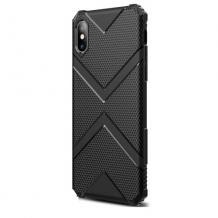 Силиконов калъф / гръб / TPU Hybrid за Apple iPhone 7 / iPhone 8 - черен / Immortal