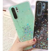 Силиконов калъф / гръб / TPU за Huawei Y5 2019 - брокат / мента