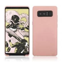 Силиконов калъф / гръб / TPU за Samsung Galaxy Note 8 N950 - светло розов / мат
