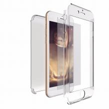 Луксозен силиконов калъф / гръб / TPU 360° за Apple iPhone 7 / iPhone 8 - прозрачен