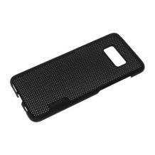 Луксозен твърд гръб KINSE за Samsung Galaxy S8 Plus G955 - черен / Grid