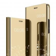 Луксозен калъф Clear View Cover с твърд гръб за Xiaomi Mi 9 - златист