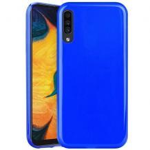 Силиконов калъф / гръб / TPU NORDIC Jelly Case за Samsung Galaxy A70 - син