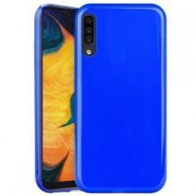 Луксозен силиконов калъф / гръб / TPU NORDIC Jelly Case за Samsung Galaxy A7 2018 A750F - син