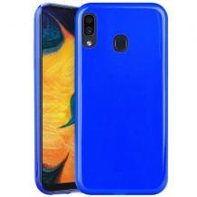 Силиконов калъф / гръб / TPU NORDIC Jelly Case за Samsung Galaxy A30 - син