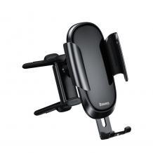 Универсална стойка за кола Baseus Future Gravity Air Vent Car Holder за Samsung, Apple, Huawei, Lenovo, LG, HTC, Sony, Nokia, ZTE, Xiaomi - черна / въртяща се на 360 градуса