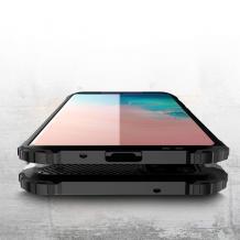 Силиконов гръб TPU Spigen Hybrid с твърда част за Samsung Galaxy A12 - черен