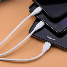 Оригинален USB кабел REMAX Suda 3in1 RC-109th Micro USB, iOS Charging Cable / Type-C / 1.0м - бял