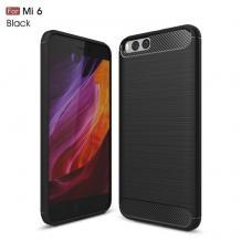 Силиконов калъф / гръб / TPU за Xiaomi Mi 6 / Mi6 - черен / carbon