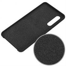 Луксозен силиконов калъф / гръб / Nano TPU за Huawei P30 - черен