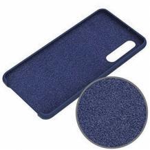 Луксозен силиконов калъф / гръб / Nano TPU за Huawei P30 Lite - син