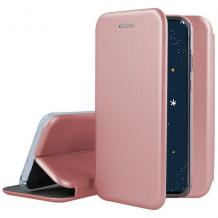Луксозен кожен калъф Flip тефтер със стойка OPEN за Nokia 5.3 - Rose Gold