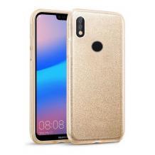 Силиконов калъф / гръб / TPU за Samsung Galaxy A20e - златист / брокат