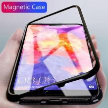 Магнитен калъф Bumper Case 360° FULL за Apple iPhone XR - прозрачен / черна рамка