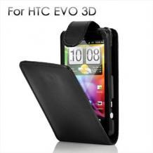 Кожен калъф за HTC EVO 3D - Flip