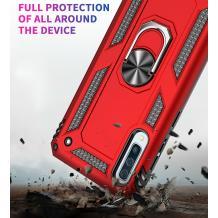Силиконов гръб Spigen със стойка и магнитно захващане за Samsung Galaxy A40 - червен