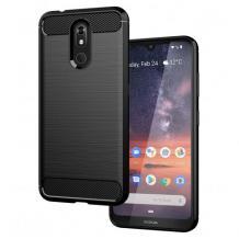 Силиконов калъф / гръб / TPU за Nokia 2.2 - черен / carbon