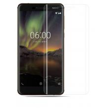 Удароустойчив извит скрийн протектор / 3D full cover Screen Protector за дисплей на Nokia 6.1 (2018)