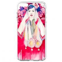 Силиконов калъф / гръб / TPU за Apple iPhone 7 / iPhone 8 - Мома с рози