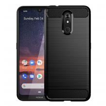 Силиконов калъф / гръб / TPU за Nokia 3.2 - черен / carbon