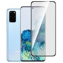 3D full cover Tempered glass screen protector Samsung Galaxy S20 / Извит стъклен скрийн протектор за Samsung Galaxy S20 - черен