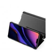 Луксозен калъф Clear View Cover с твърд гръб за Apple iPhone 11 6.1 - сребрист
