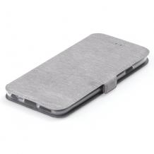 Кожен калъф Flip тефтер Flexi със стойка за Xiaomi Mi 10T Lite - сив
