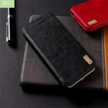 Луксозен кожен калъф Flip тефтер XO Creative Case за Apple iPhone XS MAX - черен