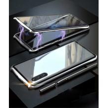 Магнитен калъф Bumper Case 360° FULL за Samsung Galaxy Note 10 N970 - прозрачен / сребриста рамка