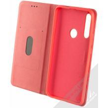 Кожен калъф Forcell Silk Case със стойка за Huawei P Smart Z / Y9 Prime 2019 - червен
