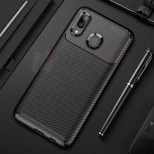 Луксозен силиконов калъф / гръб / TPU Auto Focus за Samsung Galaxy A40 - черен / Carbon