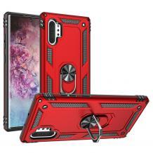 Силиконов гръб Spigen със стойка и магнитно захващане за Samsung Galaxy Note 10 N975 - червен
