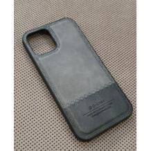 "Луксозен кожен гръб G-Case Rost Series за Apple iPhone 12 Pro Max 6.7""' - Сив"