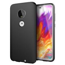 Силиконов калъф / гръб / TPU за Motorola Moto G7 Plus - черен / мат