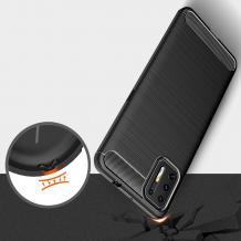 Луксозен силиконов калъф / гръб / TPU Auto Focus за Motorola Moto G9 Plus - черен / Carbon