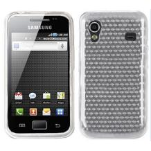 Силиконов калъф ТПУ за Samsung Galaxy Ace S5830 - прозрачен 3D